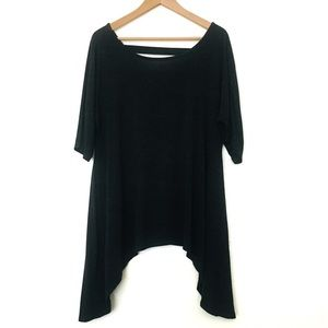 Cable & Gauge Oversized Gray Casual Boho Top